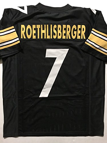 Unsigned Ben Roethlisberger Black Custom Stitched Football Jersey Size Men's XL New No (Custom Steelers Jersey)