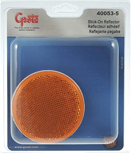 Grote 40072 2.5 Red Round Stick-On Reflector