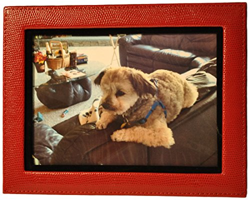 budd-leather-lizard-leather-photo-frame-5-by-7-inch-red