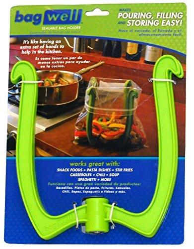 Bag Well Sealable Bag Holder for 1 Gallon Storage Bags