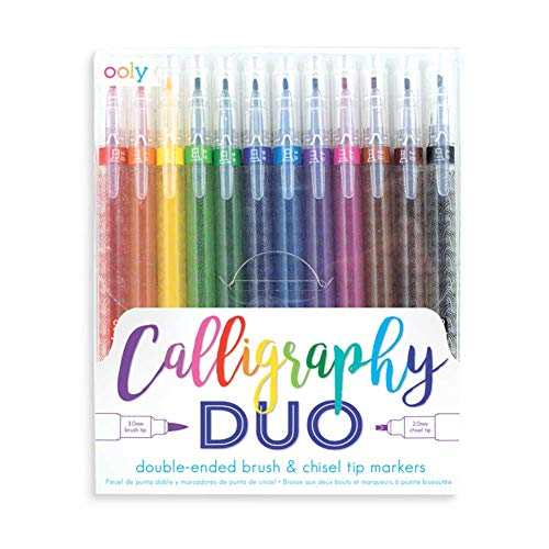 - Ooly Calligraphy Duo Double Ended Markers - Set of 12