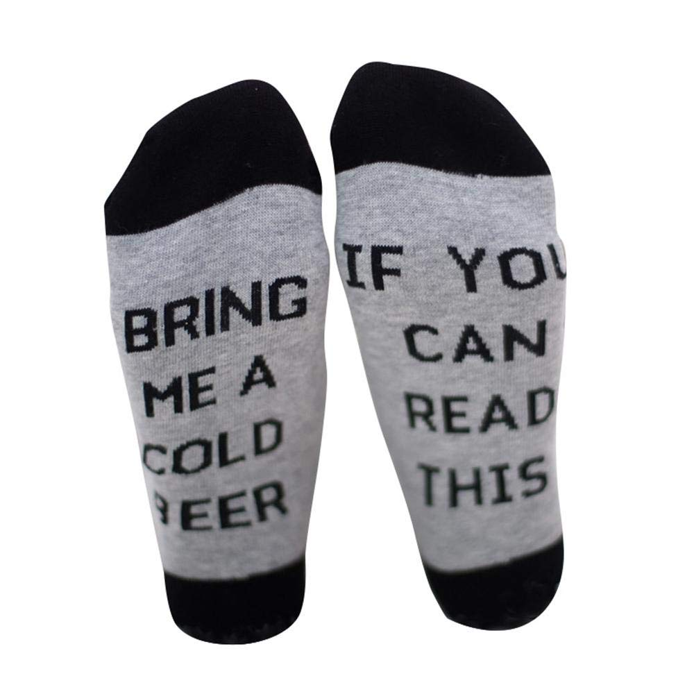 If You Can Read This Socks,Novelty Beer Wine Socks Best Gift for Birthday, Party, Halloween, Christmas KOBWA