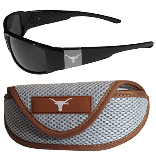 Sunglasses Texas Longhorns - NCAA Texas Longhorns Chrome Wrap Sunglasses & Sports Case