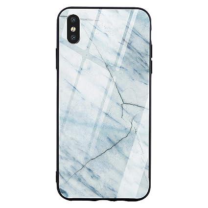 Amazon.com: Carcasa de cristal templado para iPhone 7, XS ...