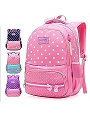 Girls School Backpack Girls' Kids Shoulder Bag for Primary School, Kindergarten Preschool Children
