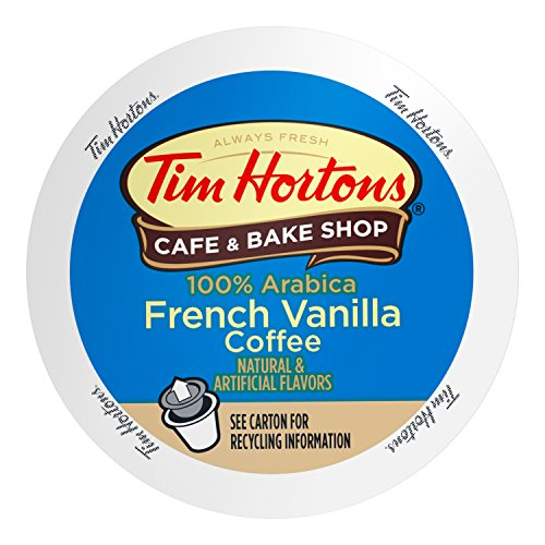(Tim Horton's French Vanilla Blend Coffee Capsule, Compatible with Keurig K-Cup Brewers, 24-Count)