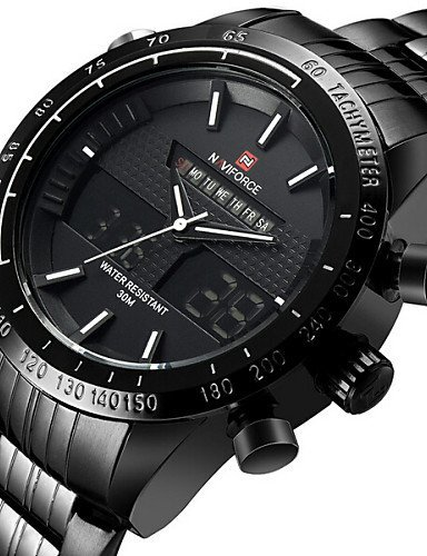 Marca de lujo Moda Hombre Relojes tira impermeable Cuarzo Reloj Montre diesel militar de los hombres reloj deportivo pulsera de, 3 #: Amazon.es: Relojes
