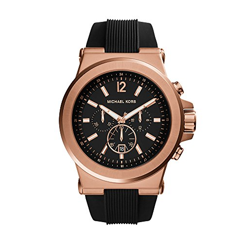 Michael Kors MK8184 Men's Classic Watch Dial: Black chronograph (Rose Gold Michael Kor Watch)
