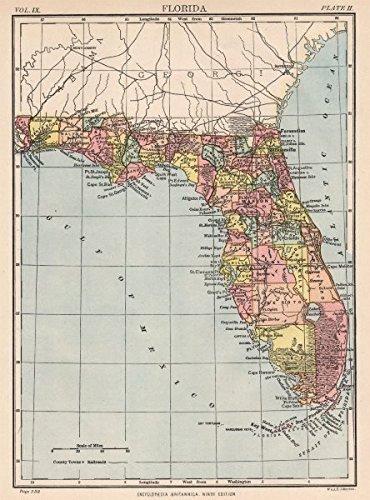 Amazon.com: FLORIDA: State map. Shows Miami (incorporated ... on grant beach florida, latitude and longitude map florida, show map pa, black map of florida, show me florida map, detailed map of florida, map of western florida, full state map florida, map of west side of florida, give me a map of florida, activity map of florida, show map ohio, mapping of florida, full page map of florida, enlarged map of florida, map of coral reefs in florida, blue map of florida, primary map of florida, large map of florida, hotel map of florida,