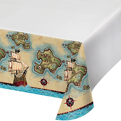 - Creative Converting 725969 Border Print Plastic Table cover 54x102