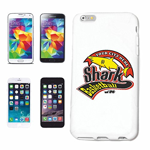 "cas de téléphone iPhone 7 ""SHARK BASKETBALL ÉQUIPE WHITE SHARK ATTACK HAI HAI ATTACKE MEGALODON BLEU SHARK Hammerhai récif blacktip whalesharks requin mako"" Hard Case Cover Téléphone Covers Smart Cove"