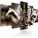 Winged Buddha Canvas Painting Modern Wall Art Print Picture (40' W x 20' H)