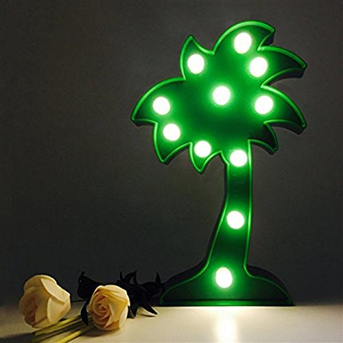Outdoor Lighted Palm Tree With Coconuts - 3