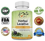 Herbal Laxative Cleansing Formula- All-Natural Laxative Capsules- Help with Occasional Constipation- Promotes Regularity- Probiotics Source- Healthy Digestive System- Non-GMO- 60 Capsules