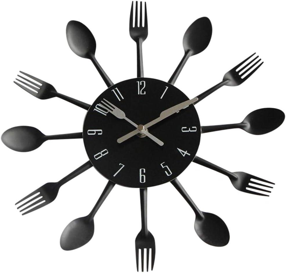 TianranRT Modern Design Splitter Cubiertos de cocina Utensilien pared reloj cuchara tenedor Watch: Amazon.es: Bricolaje y herramientas