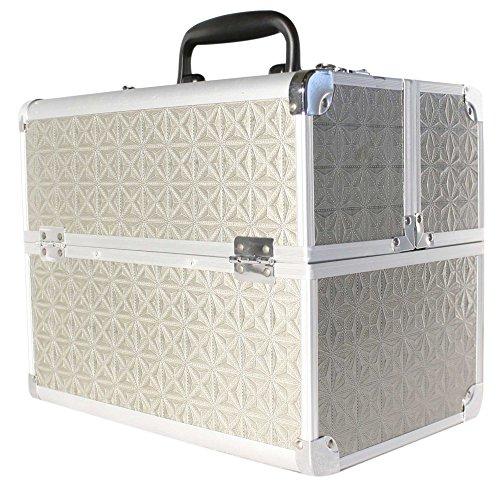 Kosmetikkoffer Beauty Case Schminkkoffer Multikoffer Alu Koffer Silber 32cm x 21 cm x 26 cm
