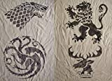 Game of Thrones Inspired Handmade Stencils. House Targaryen. House Stark.House Lannister.House Baratheon Sigils