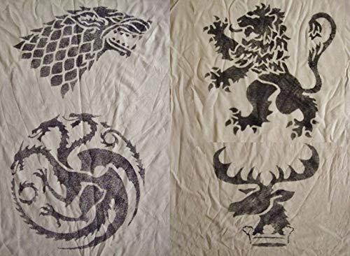 Game of Thrones Inspired Handmade Stencils. House Targaryen. House Stark.House Lannister.House Baratheon Sigils by StampDealer