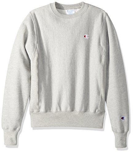 (Champion LIFE Men's Reverse Weave Sweatshirt,Oxford Gray/Left Chest