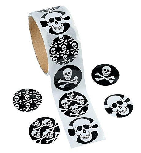 Skull and Crossbones Sticker Roll