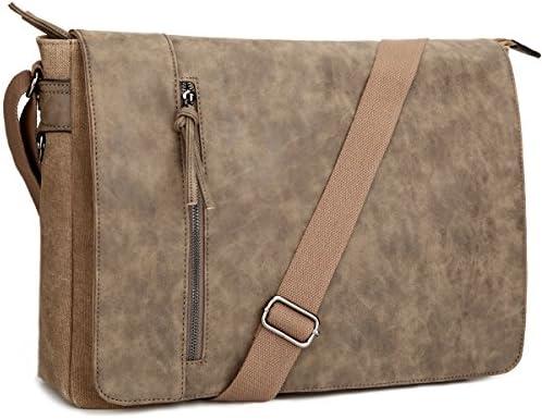 RKH Leather Unisex Real Leather Messenger Bag for Laptop Briefcase Satchel 11 X 15 INCH Bag