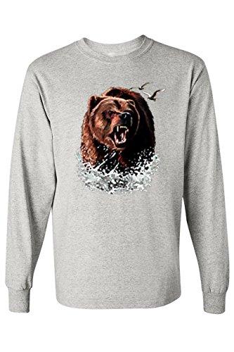 Shore Bears (SHORE TRENDZ Men's Long Sleeve Shirt Grizzly Bear: Grey (Large))