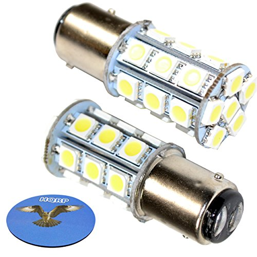 Base Bay15d - HQRP 2-Pack BAY15d LED Light Bulb for Hella Marine Series 2984 2 NM Tri-Colour Lamp, Series 2984 3 NM Stern Lamp, Series 2984 2LT 002 984-321 / 2LT 002 984-811 10-30V DC Marine Navigation + Coaster