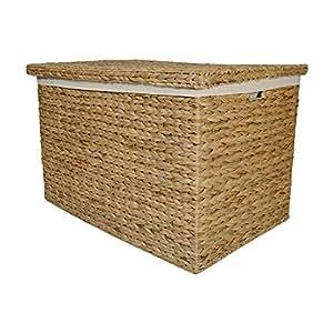 Tamaño mediano Marlow mimbre cesta baúl de almacenaje/juguete/cesta