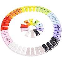 LIHAO 50Clips para bebé. Para el chupete y las cobijas–10colores.