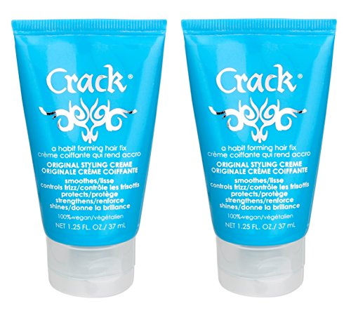 Crack Original Styling Anti-Frizz Treatment, 1.25 Ounce, 2-Pack by Crack