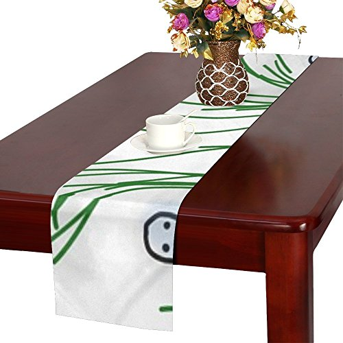 QYUESHANG Ghost Grass Halloween Mystery Floating Darkness Table Runner, Kitchen Dining Table Runner 16 X 72 Inch For Dinner Parties, Events, Decor -