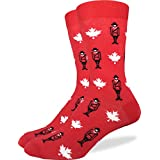 Good Luck Sock Men's Canadian Mounties Crew Socks,Large (Shoe size 7-12),Red