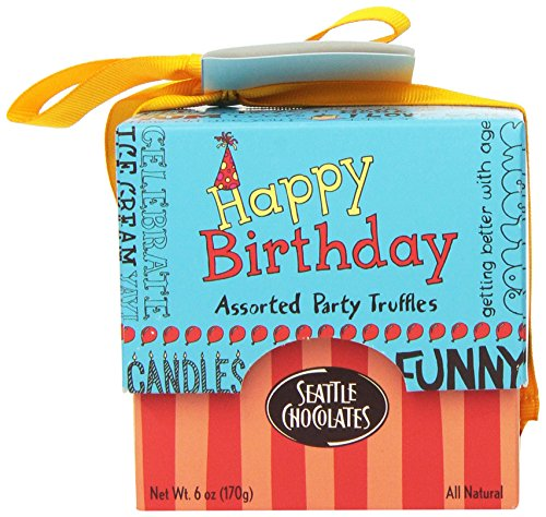 Seattle Chocolates Gift Box, Happy Birthday, 6 Ounce (Chocolate Birthday Gifts)