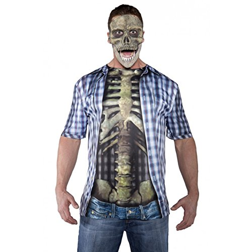 [Underwraps Men's Skull Mask, Grey, One Size] (Scary Scarecrow Halloween Costumes)