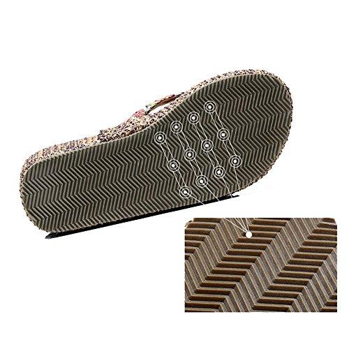 donna UK6 tacco Pantofole all'usura A da Colore CN39 ZHIRONG antiscivolo spiaggia Scarpe resistenti EU39 Sandali A spesso con Cunei alto fondo moda dimensioni e da BTBPxfXOqw