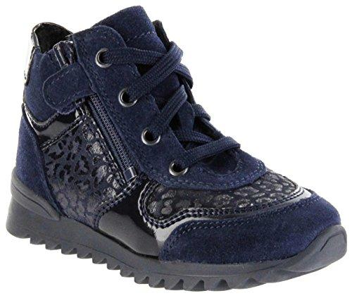 Richter Kinder Halbschuhe Sneaker Blau Leder Mädchen Schuhe 3741-837-7200 Atlantic Tosca Blau