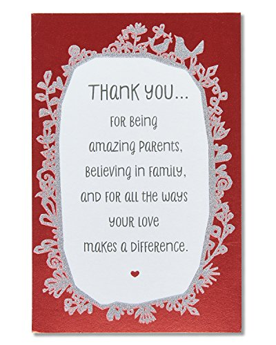 American Greetings Anniversary Card for Parents with Glitter