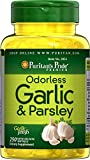 Puritan's Pride Odorless Garlic & Parsley 500 mg / 100 mg-250 Rapid Release Softgels For Sale