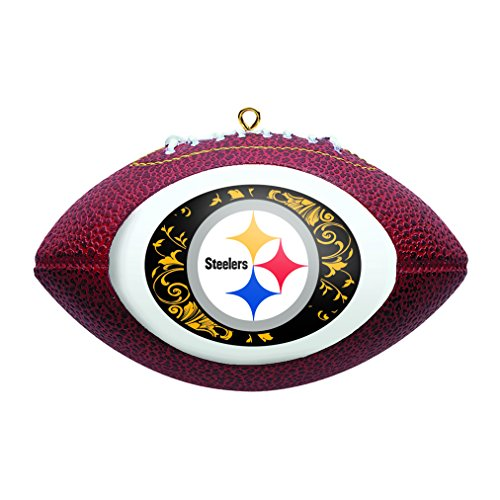Boelter Brands NFL Pittsburgh Steelers Replica Football Ornament]()