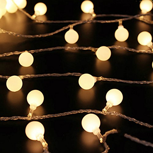50 Leds 16 Feet Globe Led String Lights Battery Powered Indoor Outdoor Decorative Fairy Lights