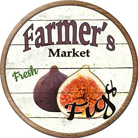 Sticky Notes Bargain World Farmers Market Apricots Novelty Metal Circular Sign