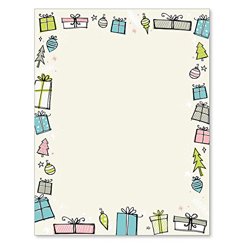 Christmas on Maidson Avenue Holiday Computer Printer Paper (150 Sheets)