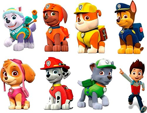 Paw Patrol 3d Wall Sticker Set Decor Art Kids Decal Stickers 6 Each Stickers