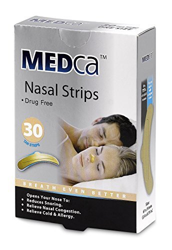 MEDca Adult Tan Nasal Strips Relieves and Opens Nasal Passages Pack of 30