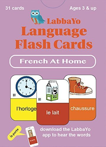 """LabbaYo - French Language Flash Cards - """"At Home"""" card pack - iPhone & iPad compatible to hear words and test pronunciation PDF"""