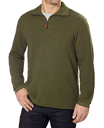 (Hudson River Men's Long Sleeve 1/4 Zip Pullover, Vine Heather - XXLarge)