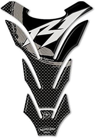 Protector de Depósito Adhesivo Depósito Resina Gel 3D Compatible con Yamaha YZF R1 - Carbono Gris: Amazon.es: Coche y moto