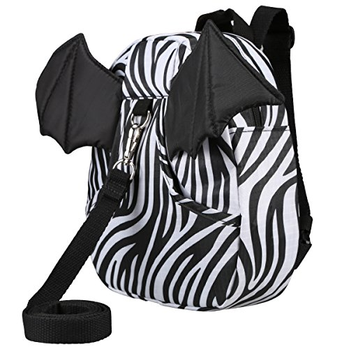 3D Toddler Baby Kid Walking Safety Harness Leash Backpack Travel Strap Anti Lost Bag (Little Devil Zebra)