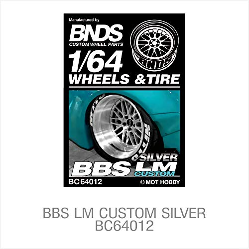 BNDS Wheels Tire Custom Parts Treaded Rubber Gold Silver Alloy Rim 4pcs kit Set for 1/64 Scale Diecast Hot Model Vehicle car -