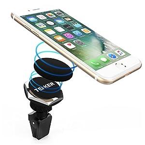 Tenker Support Téléphone Voiture Magnétique auto téléphone universel Pour  Smartphone téléphone portable Accessoire Fixation à la grille aération  Rotation ... 2bc0a549b08